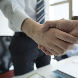 Shaking hands of a businessman